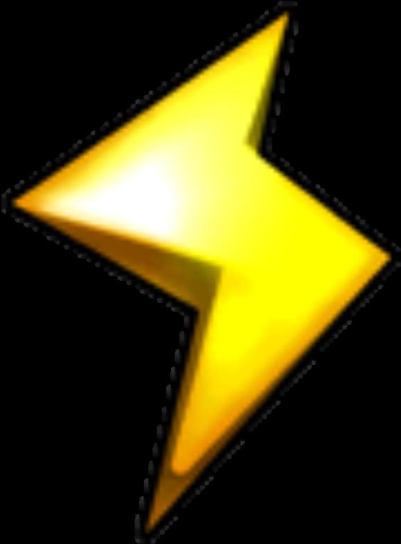 Lightning Cup Logo Mario Kart Wii Copas Clipart Full