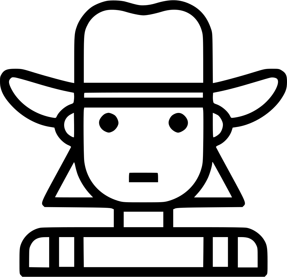 Cowgirl Clipart Svg Icon Cowgirl Png Transparent Png Full Size