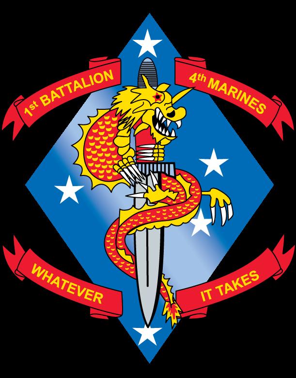 Usmc Logo Vectors Free Download  |1st Battalion 4th Marines Logo
