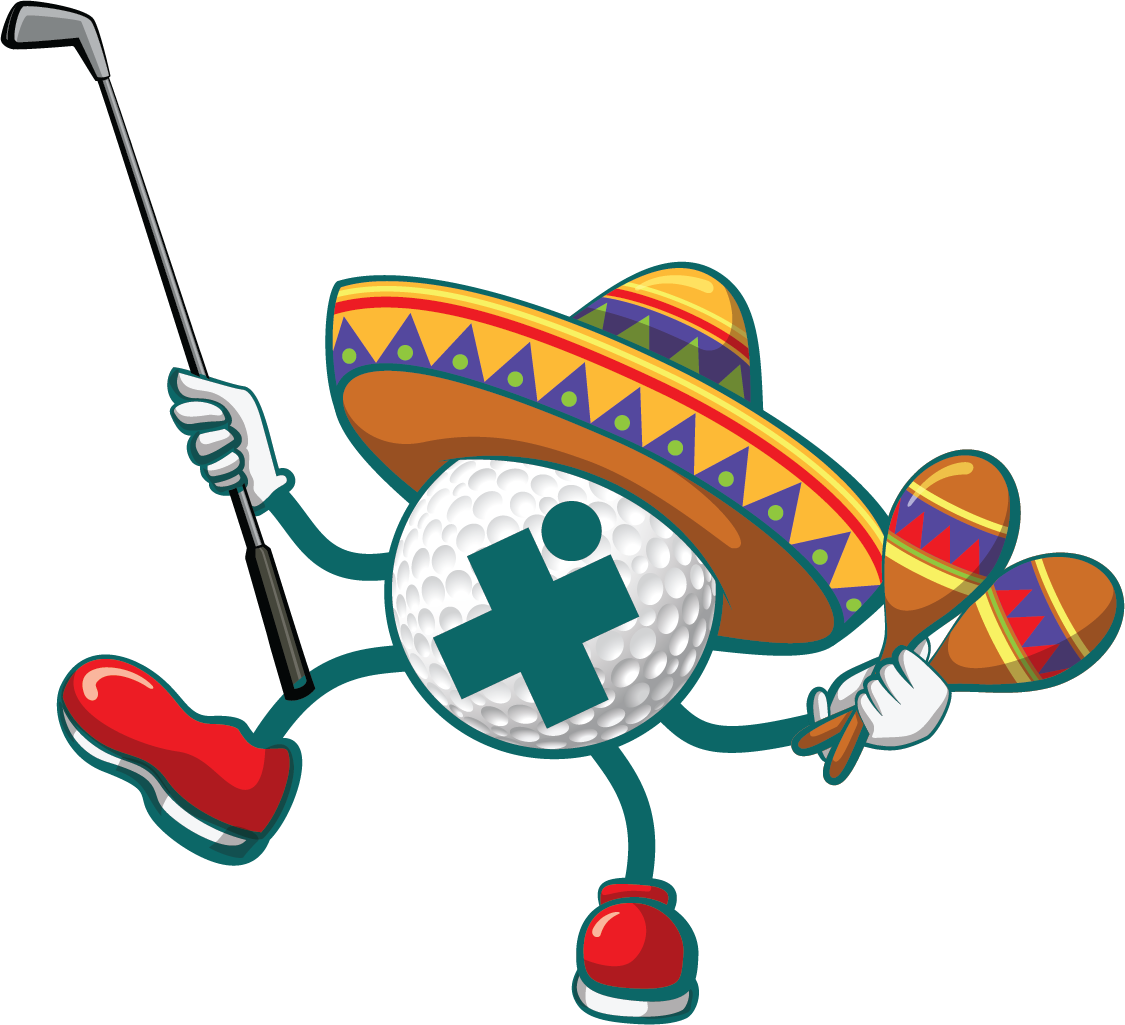 Snowman Golfer With Irons In Red Santa Santa Hat On Golf Ball. Royalty Free  Cliparts, Vectors, And Stock Illustration. Image 49749923.