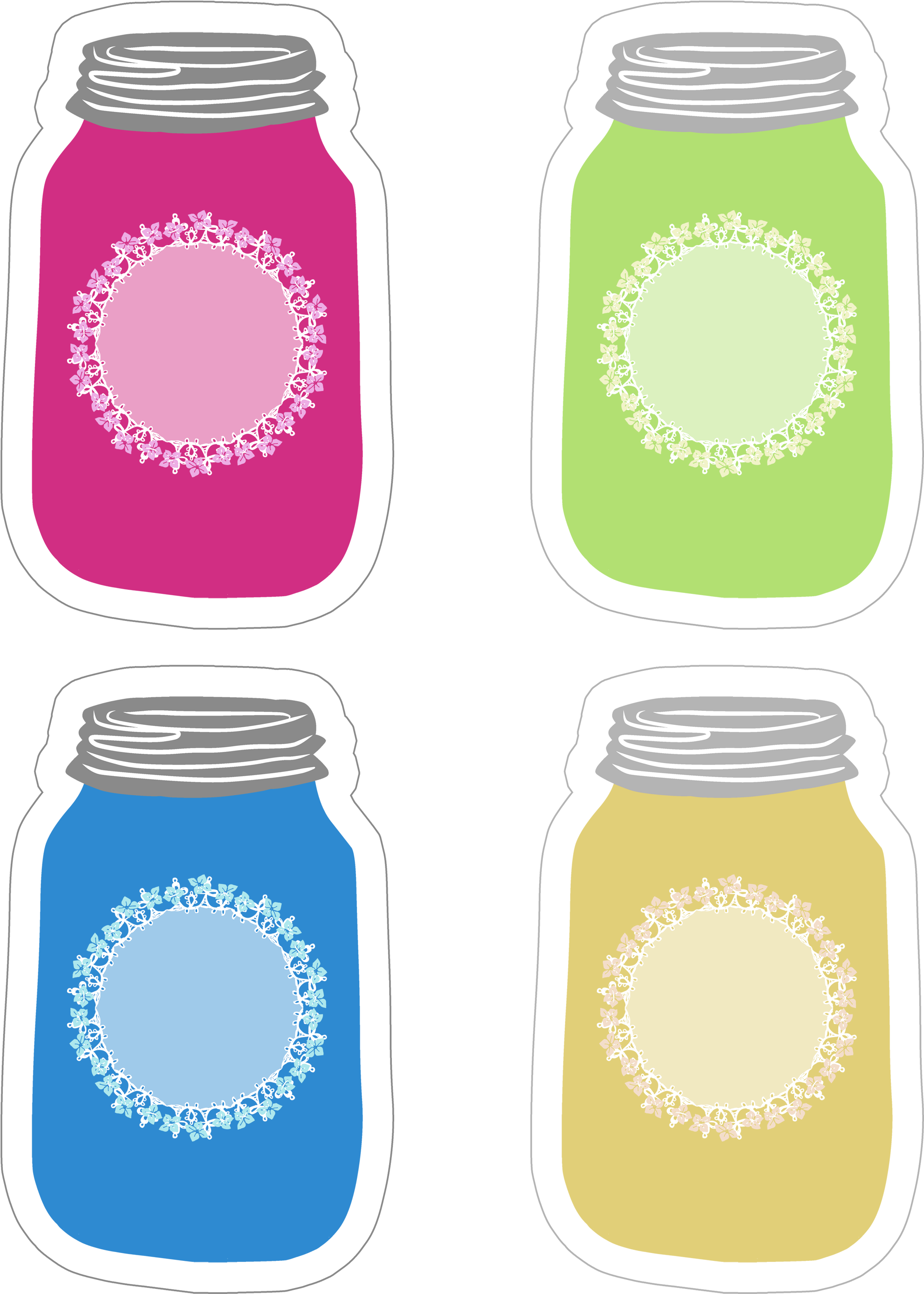 photo about Printable Mason Jar named Colourful Mason Jar Tag Range Absolutely free Printable - Mason Jar