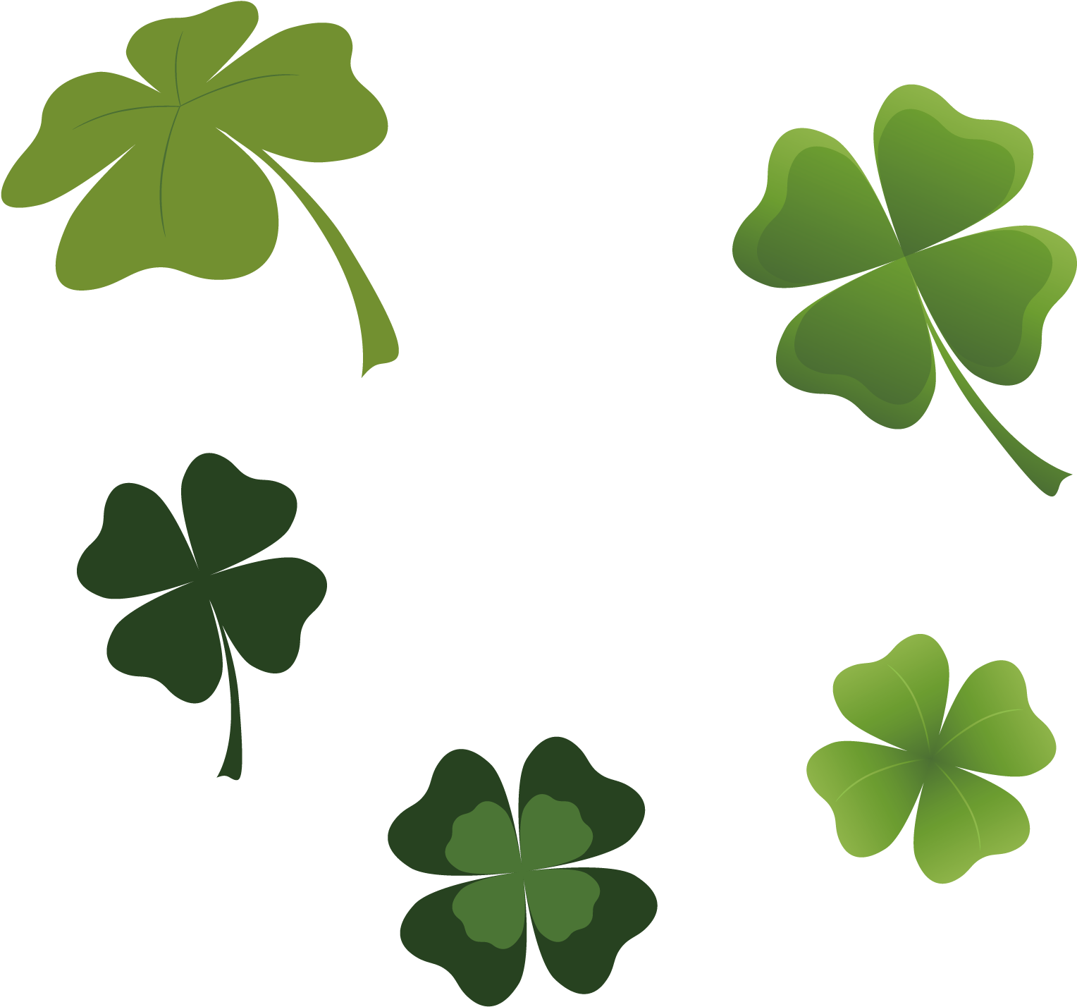 Clip Library Four Leaf Clover Luck Transprent Png Free ...