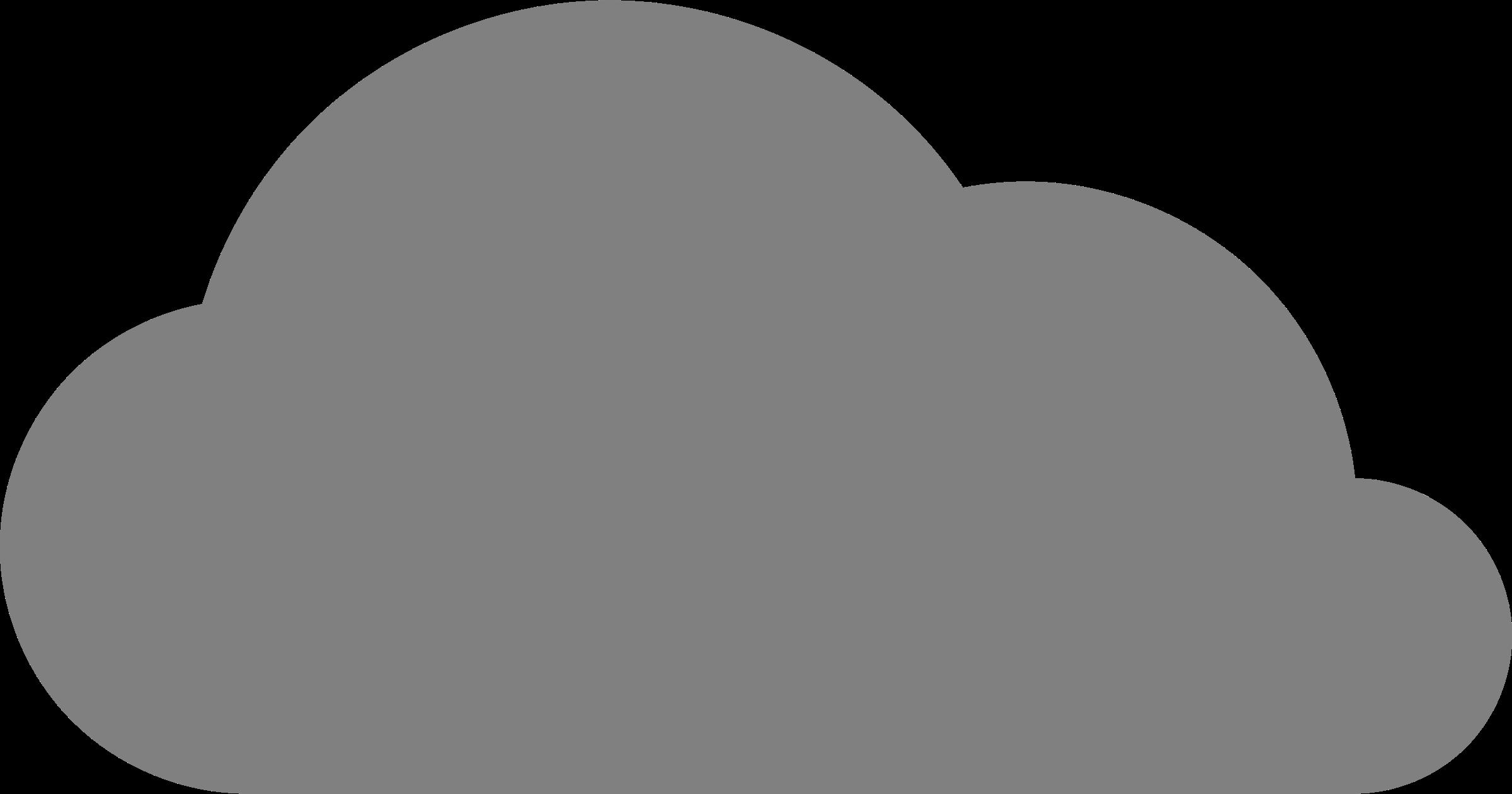 Cartoon Grey Cloud Png Clipart Full Size Clipart 1881845 Pinclipart