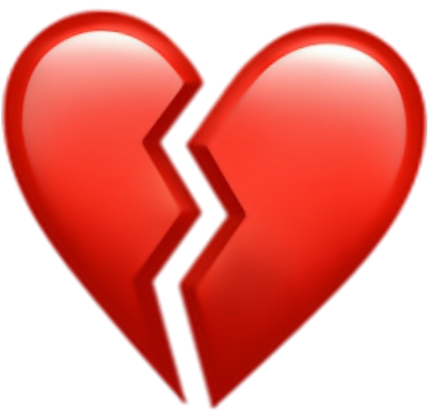 Heart Broken Brokenheart Sad Red Hearts - Small Love Heart Emoji Clipart -  Full Size Clipart (#1883482) - PinClipart