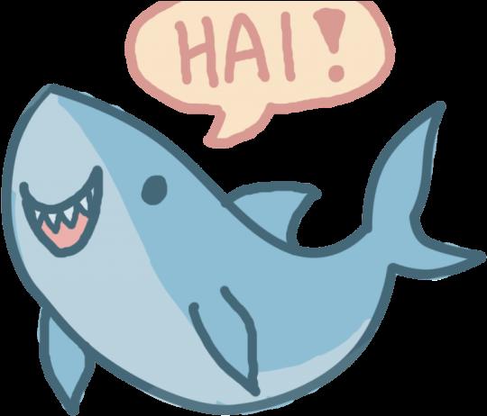 Love Clipart Shark - Cute Cartoon Shark Drawing - Png ...
