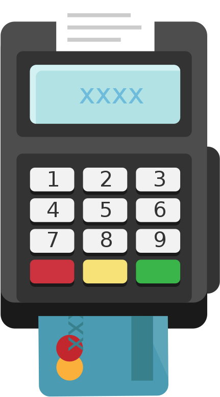 Card Terminal Pos Flat Icon Vector - Card Machine Icon Png ...