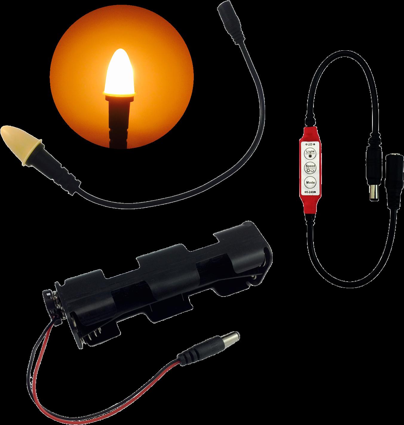 Eel Enhanced Effects Light, Cfl1 Candle Flame Light - Led