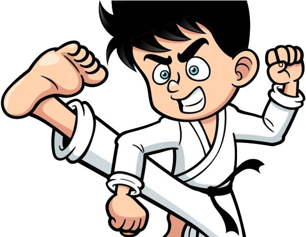 Martial Arts Clipart Karate Guy Boy Doing Karate Clipart Png Download Full Size Clipart 1987723 Pinclipart