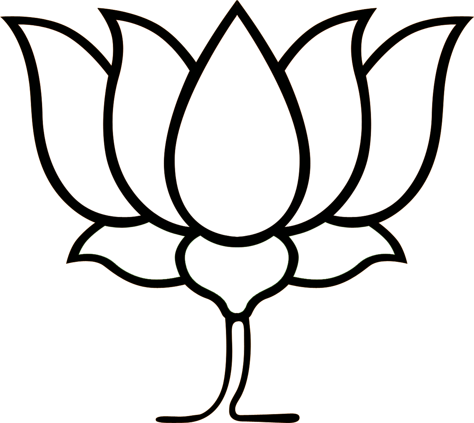 Lotus Clipart Bjp Lotus Flower Of Bjp Png Download Full Size