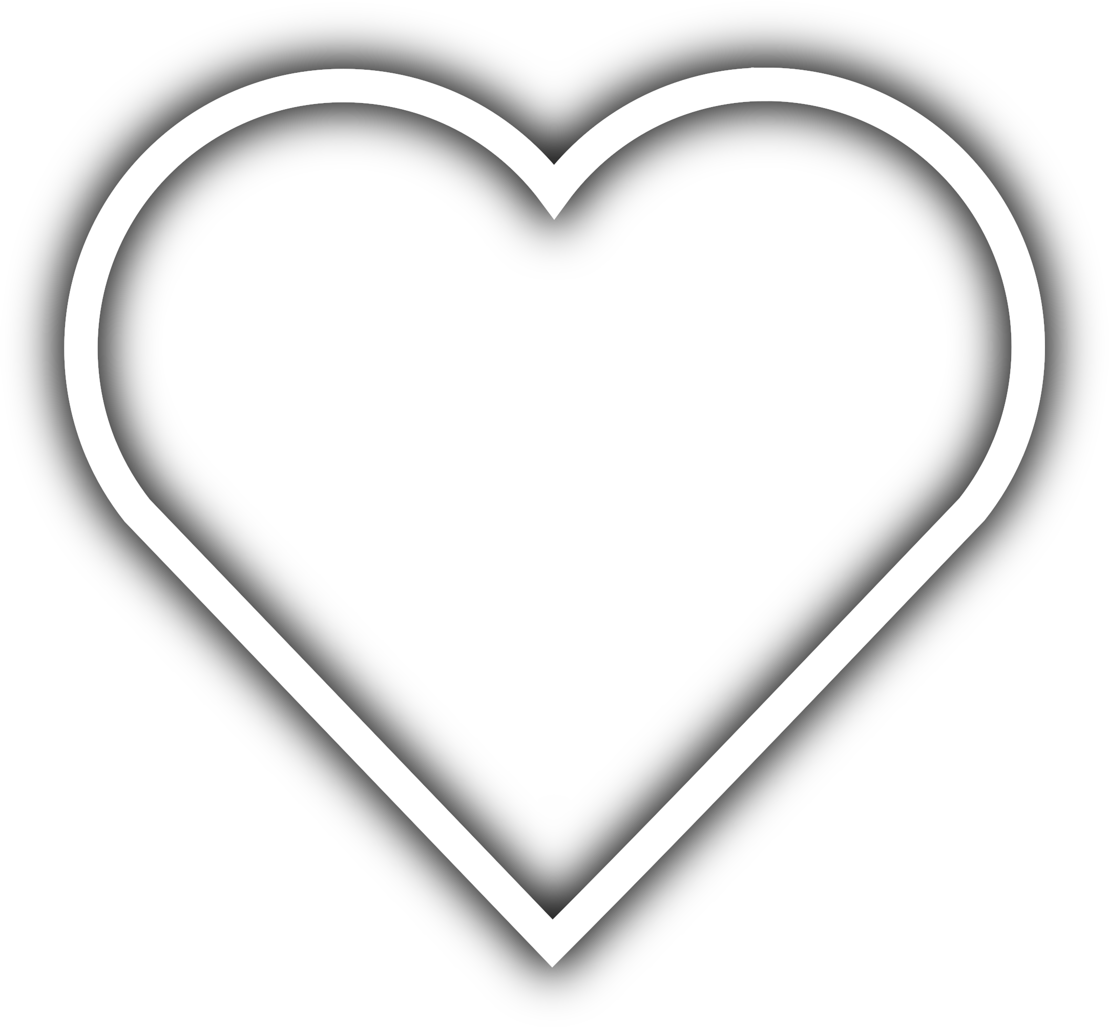 Heart Clipart Clipart Simple - White Heart Icon Png ... (2165 x 2004 Pixel)