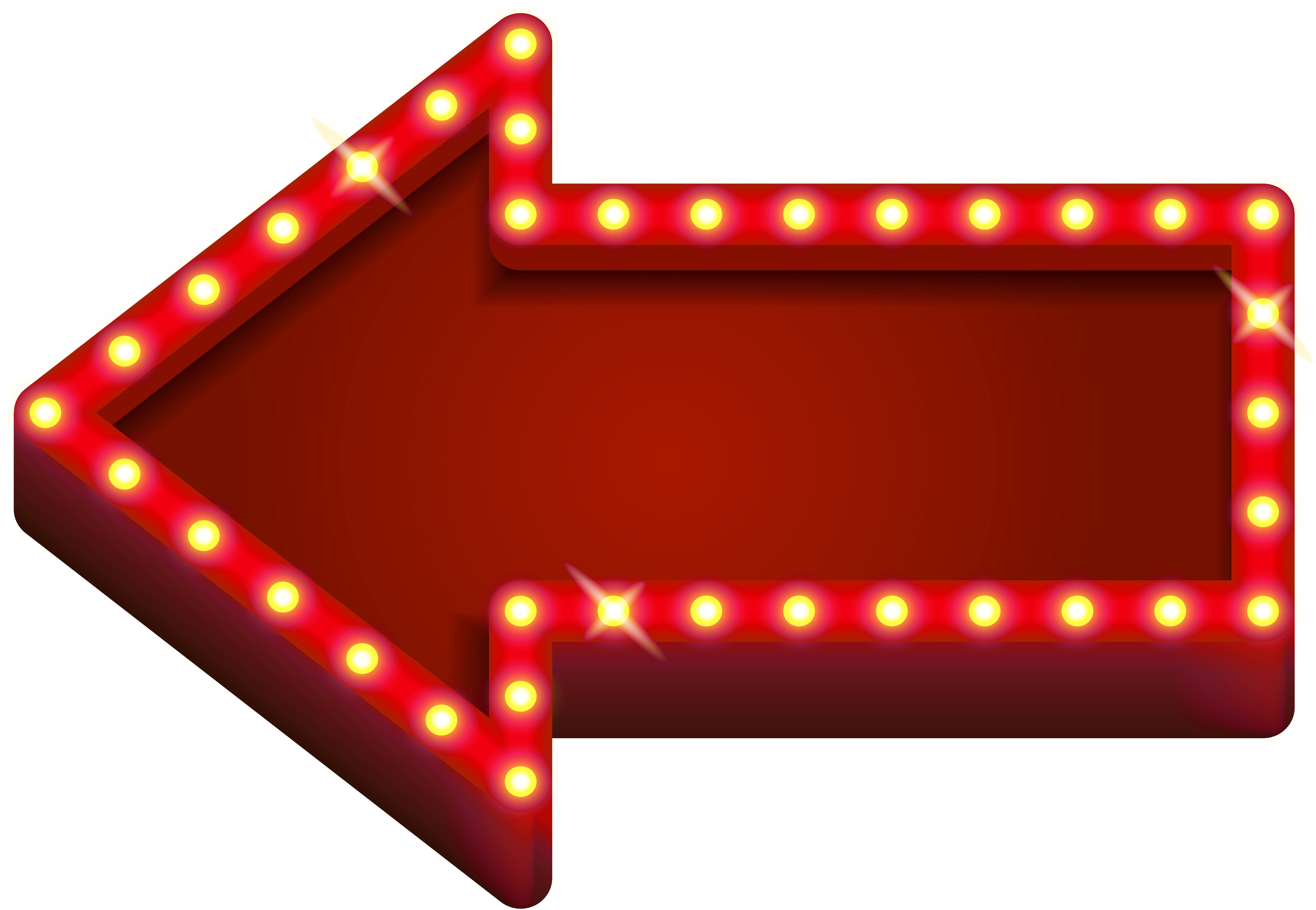 Download Blank Marquee Png Download - Arrow With Lights ...