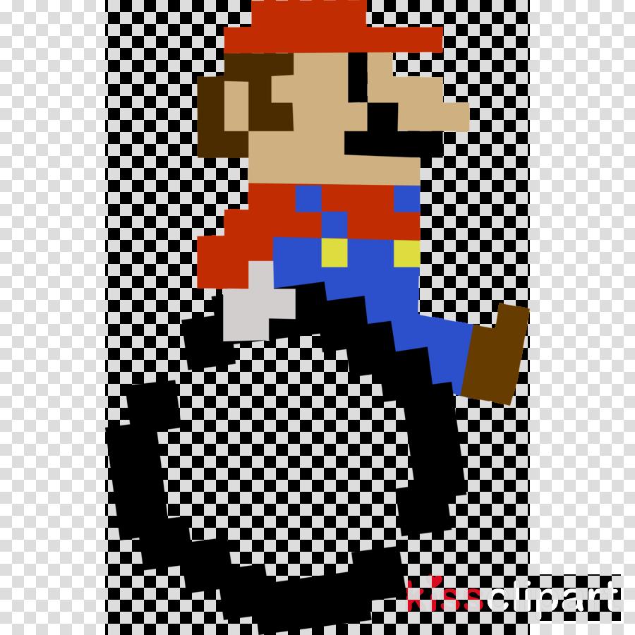 8 Bit Mario Transparent Clipart Luigi Super Mario Bros - 8
