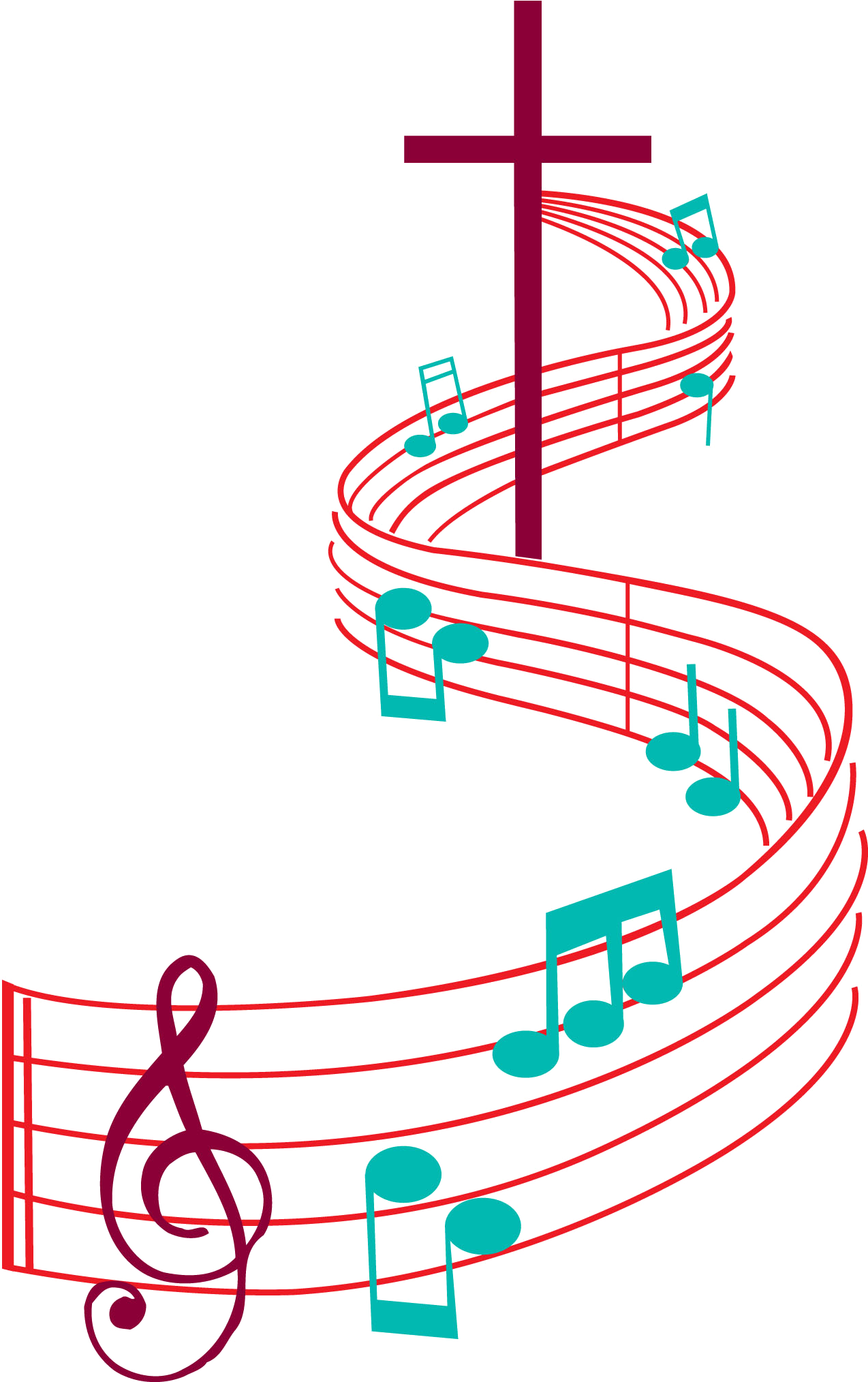 There's This Common Theme With God He Doesn't Always - Music Notes And  Cross Clipart - Full Size Clipart (#2009567) - PinClipart