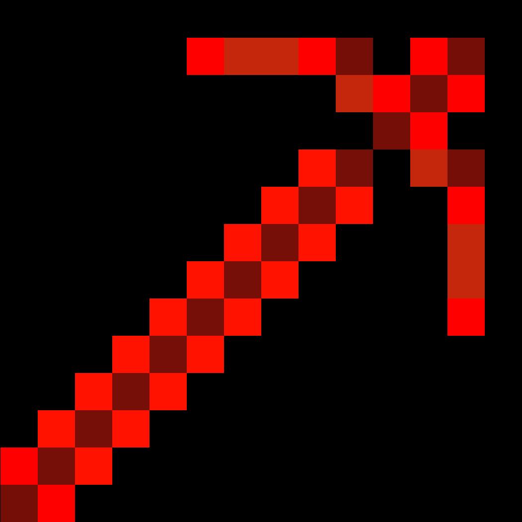 Redstone Pickaxe - Minecraft Diamond Pickaxe Png Clipart ...