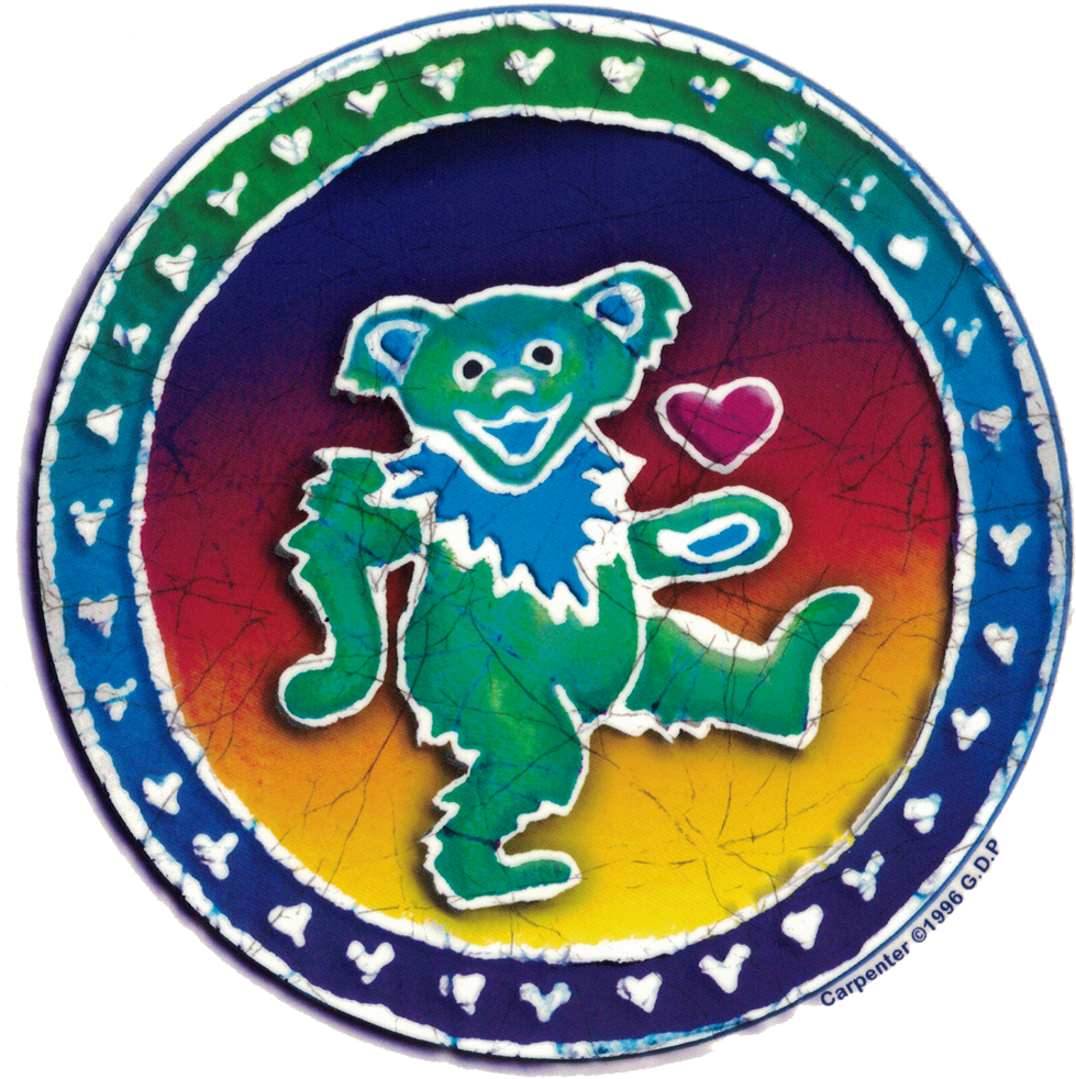 Grateful Dead Dancing Bear Batik - New Empire Of Brazil