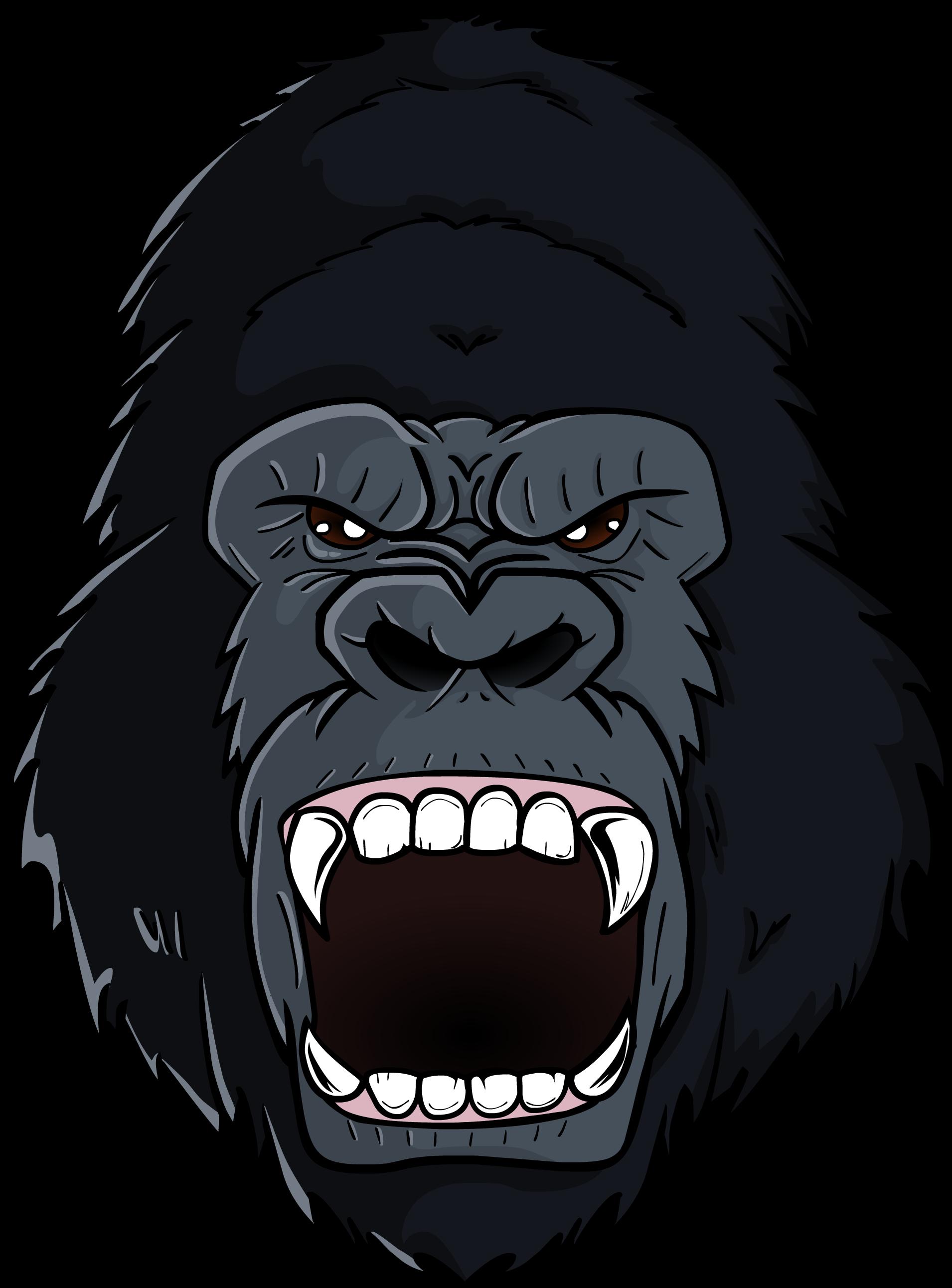 Album On Imgur Jpg Gorilla Logo Transparent - Cartoon Gorilla Clipart (2738x2738), Png Download