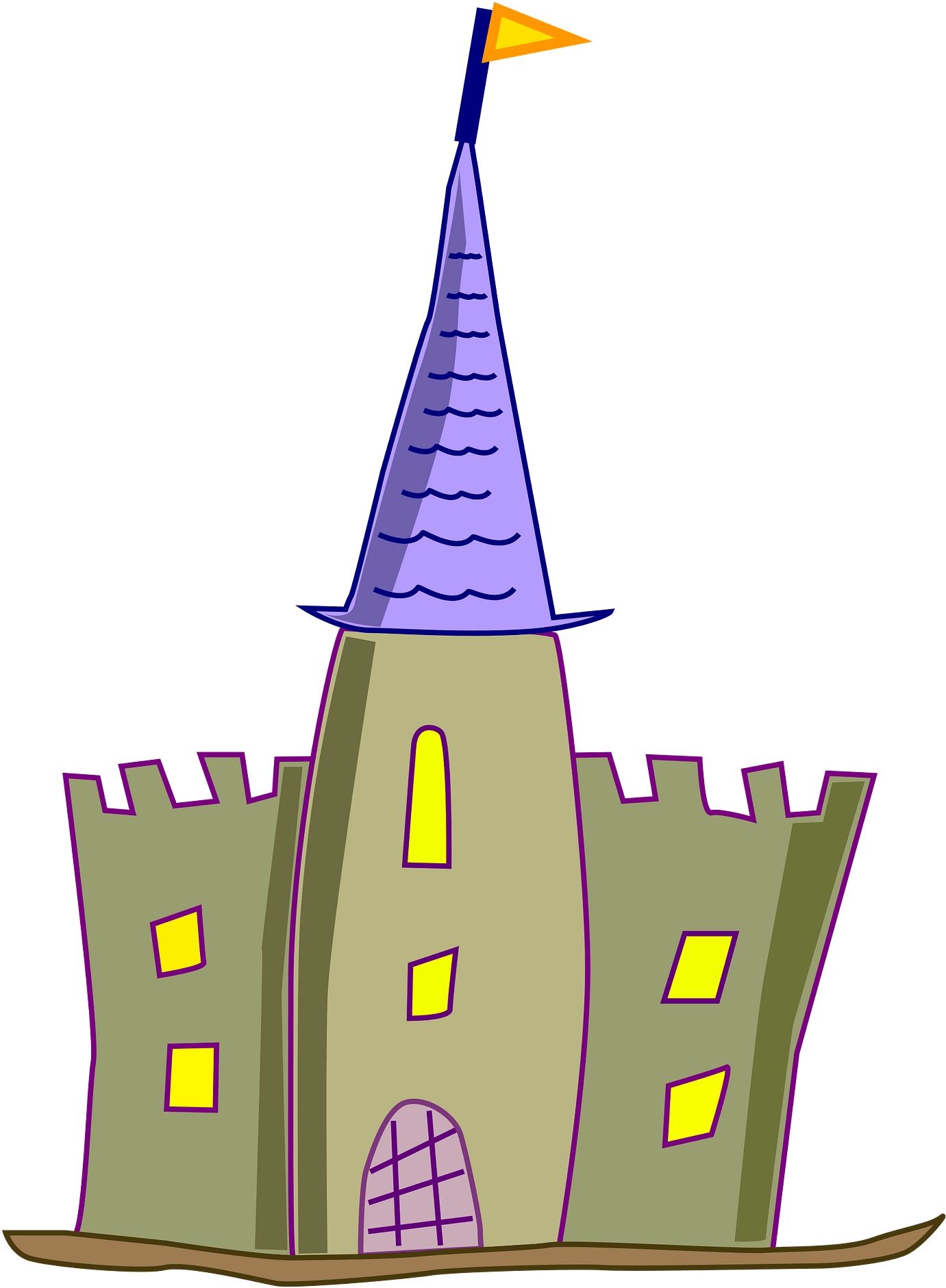 Castle Free To Use Cliparts - Castle Cartoon No Background
