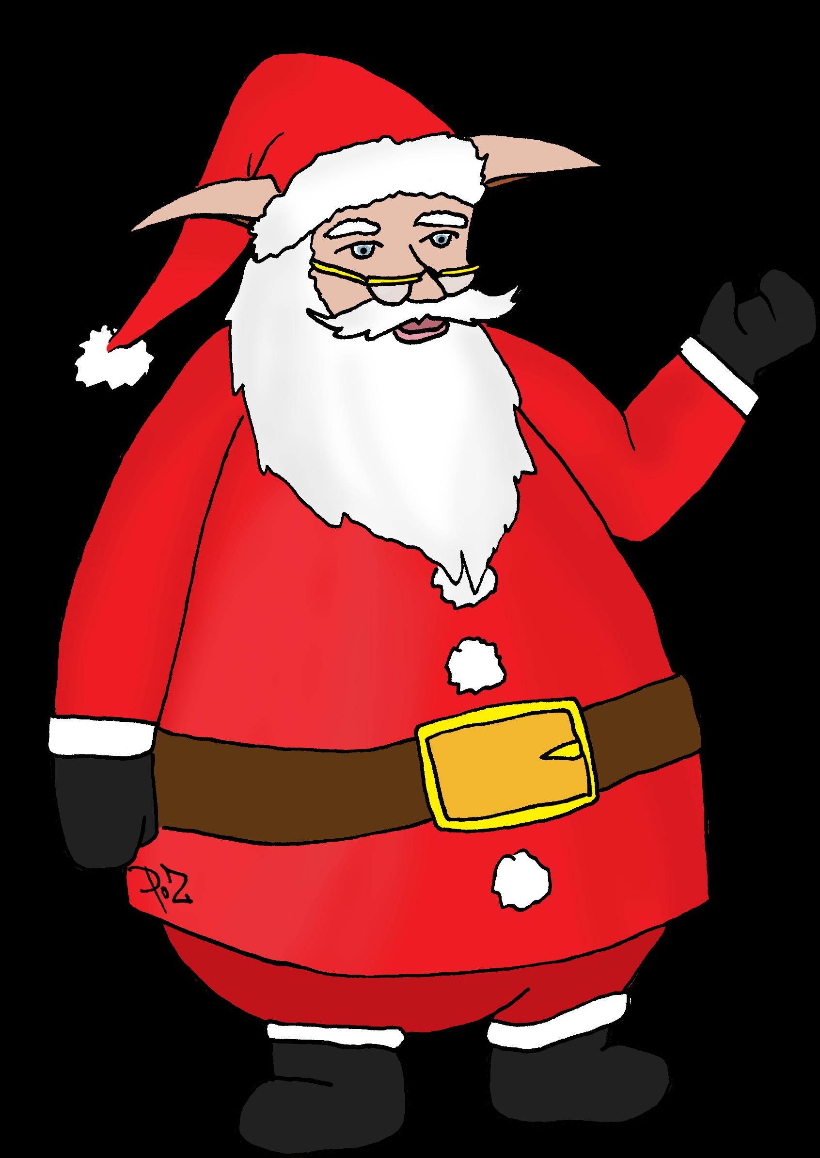 Coloriage Pere Noel A Imprimer Gratuit Santa Claus Clipart