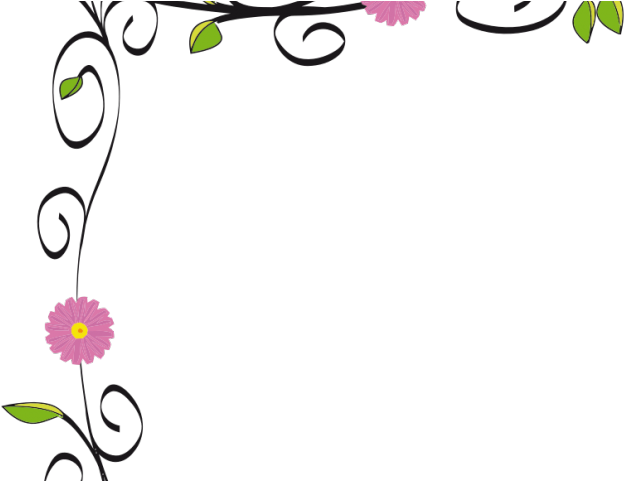 Daisy Clipart Page Border - Simple Design Of Border - Png
