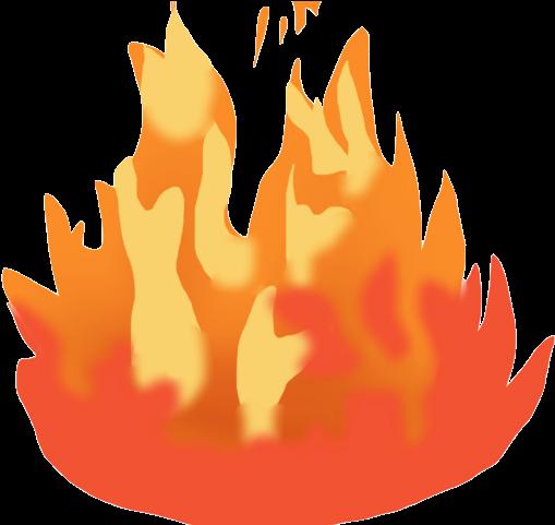 Bonfire Clipart Heat - Fire Emoji Gif Png Transparent Png