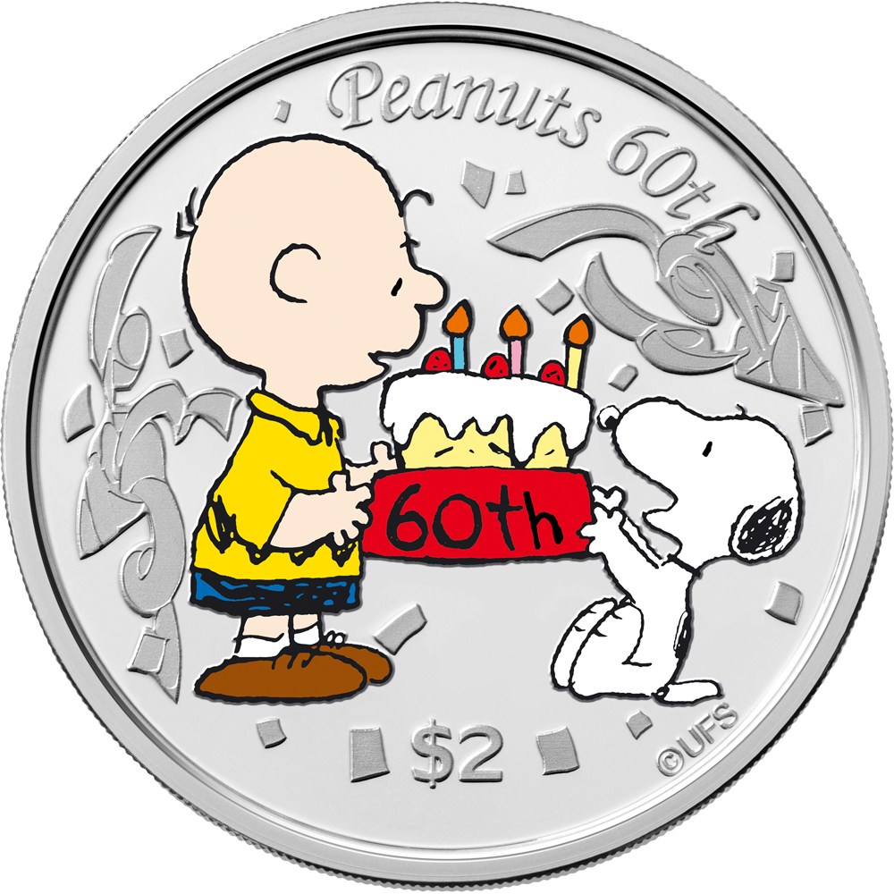 LUCY COIN+GOLD 1-OZ.999 SILVER CHRISTMAS PEANUTS GANG CHARLIE BROWN SNOOPY