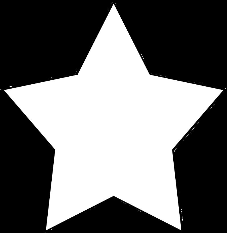 5-point Star Clipart - Transparent Background White Star ...