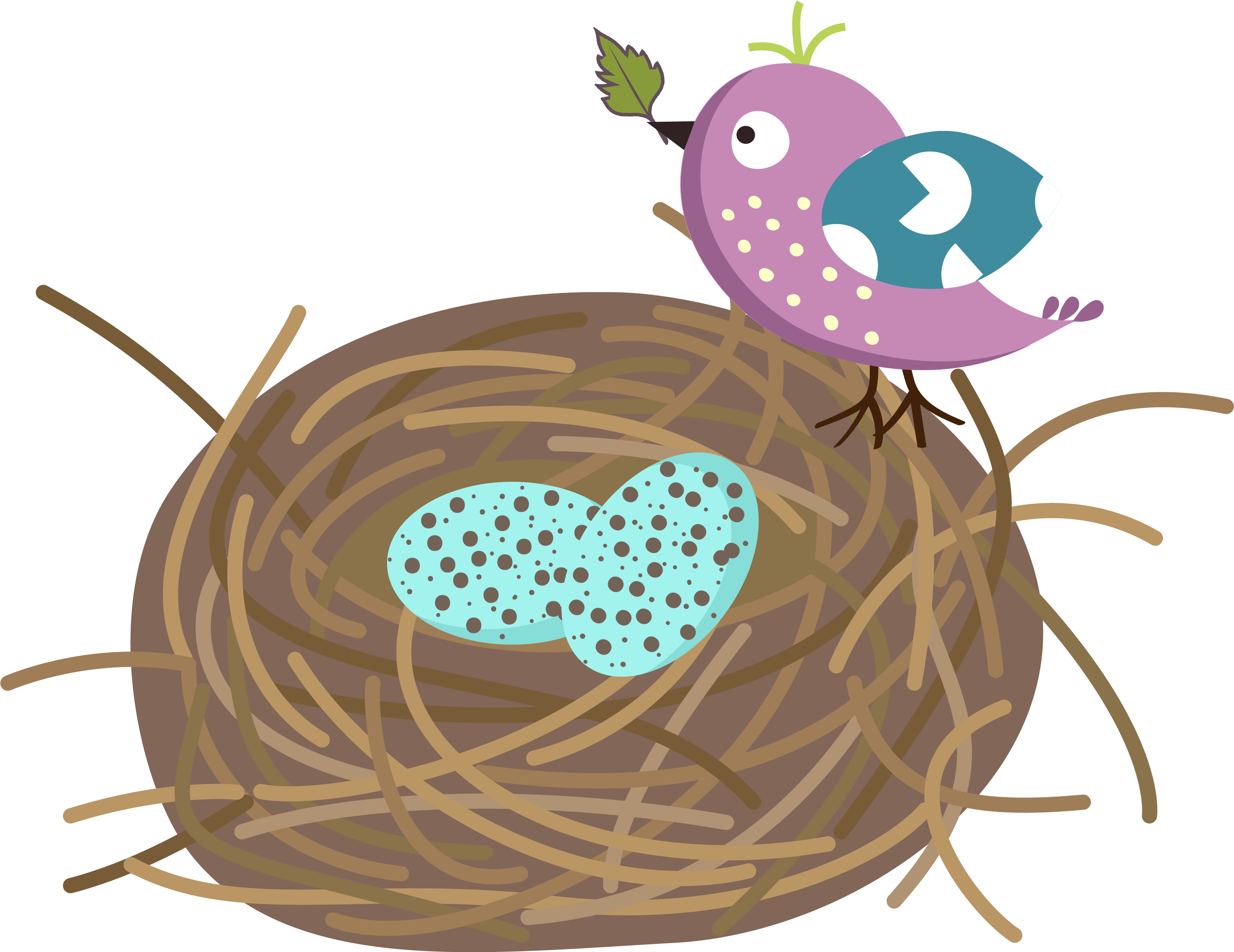 Clipart Of Birds Black And White Bird Nest Free Download - Bird In A Nest  Clipart Black And White - Free Transparent PNG Clipart Images Download