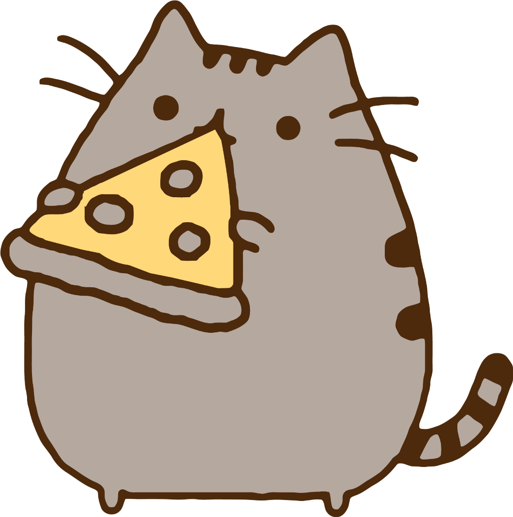 14 Cliparts For Free Download Eating Clipart Pizza - Pusheen Cat ...