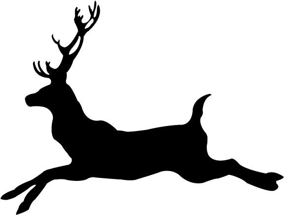 Deer running. Buck clipart png download
