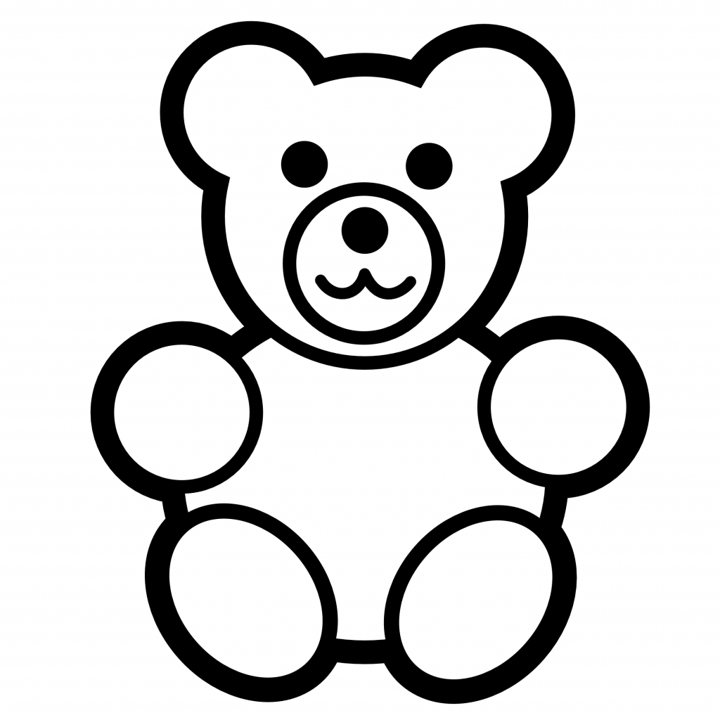 Teddy Bear Outline Clipart - Full Size Clipart (#2430335 ...