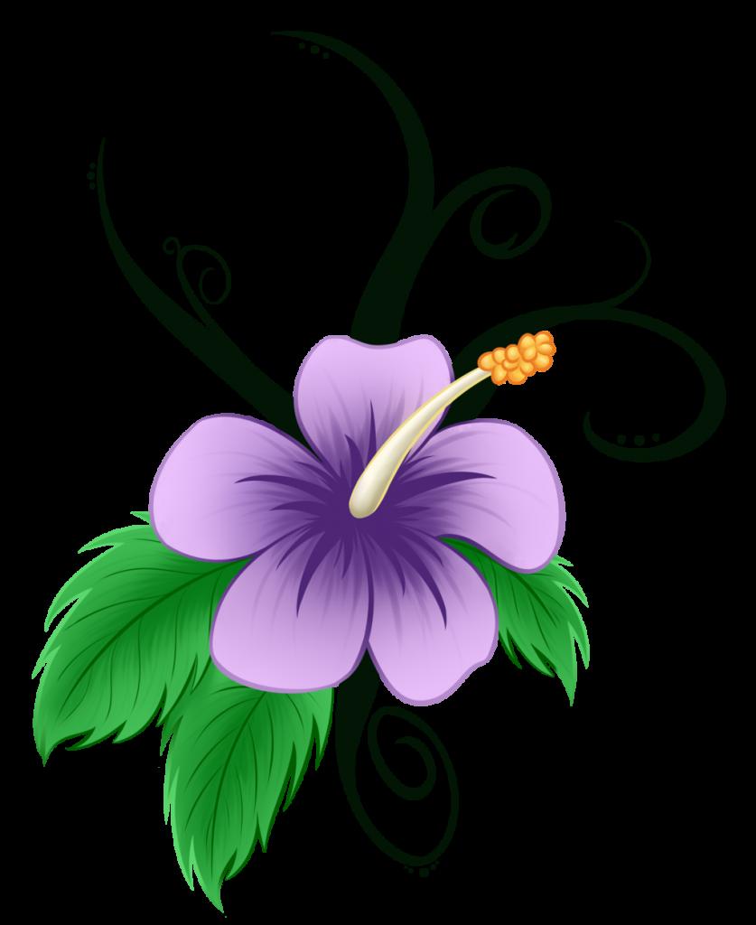 Tremendous Hawaiian Flowers Cartoon Flower Clip Art - Hawaiian Flower Clipart Hd - Png Download (837x1024), Png Download