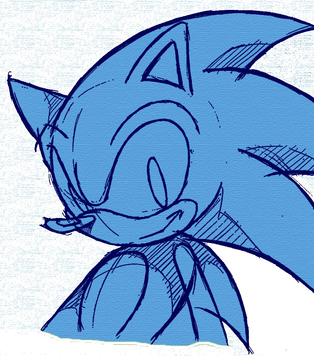 Sonic The Hedgehog 2 Fish Mammal Vertebrate Head Line Clipart Full Size Clipart 2564780 Pinclipart