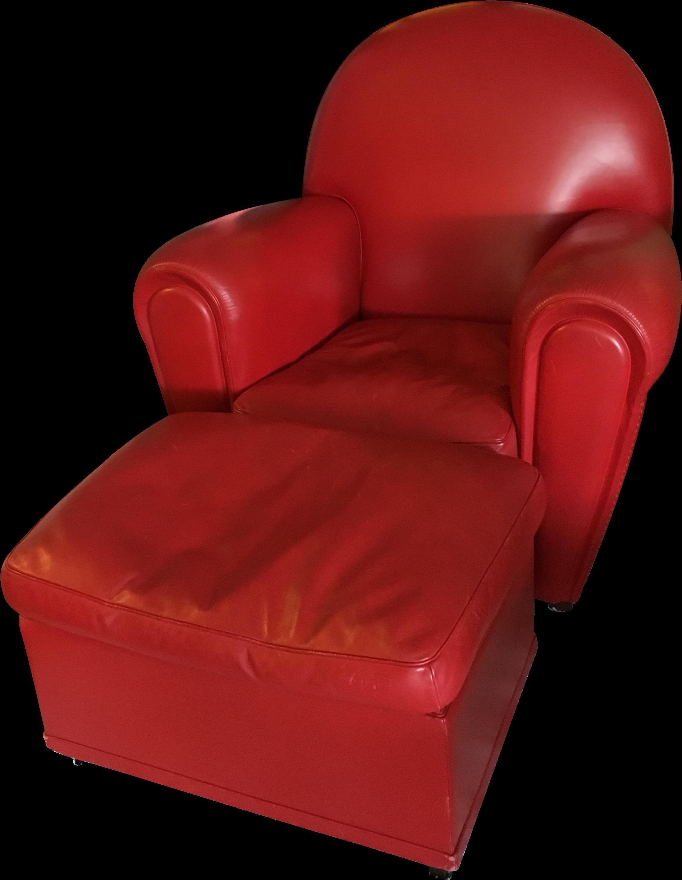Poltrona Frau Vanity Fair Armchair And Ott Red Leather ...