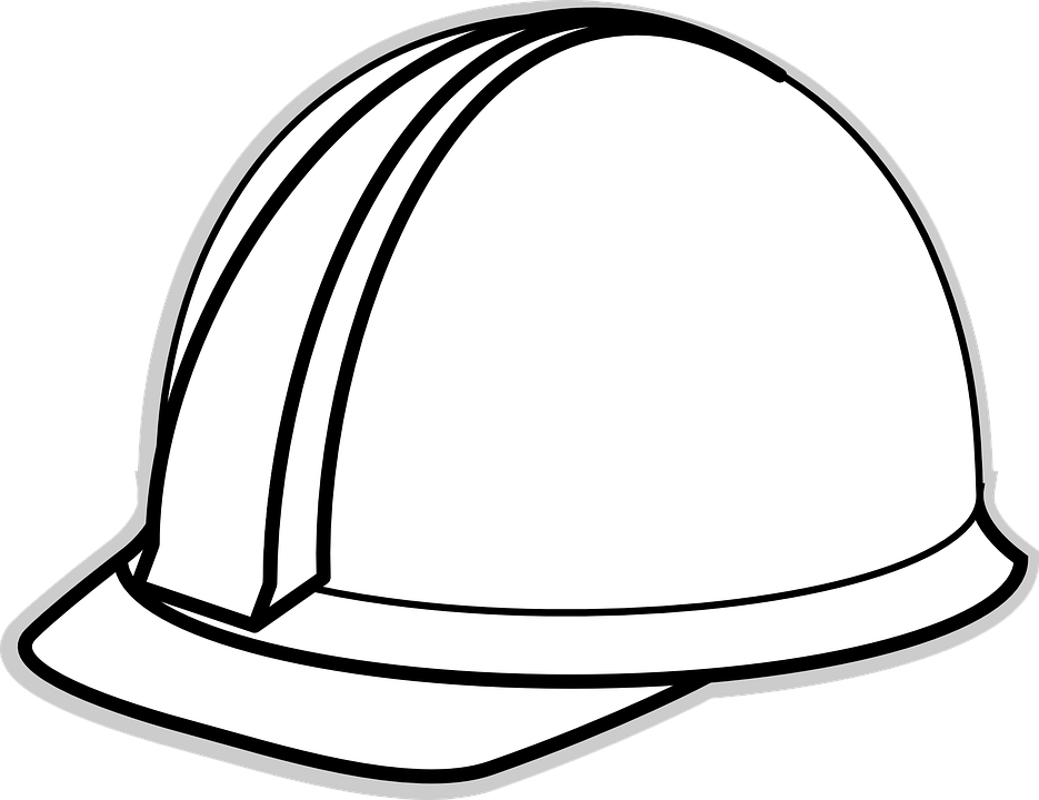 Helmet Clipart Construction Worker Hard Hat White Cartoon Png Download Full Size Clipart 261359 Pinclipart