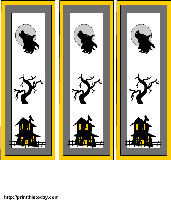 picture relating to Free Printable Halloween Clipart named Cost-free Printable Halloween Bookmarks Clipart - Comprehensive Dimension