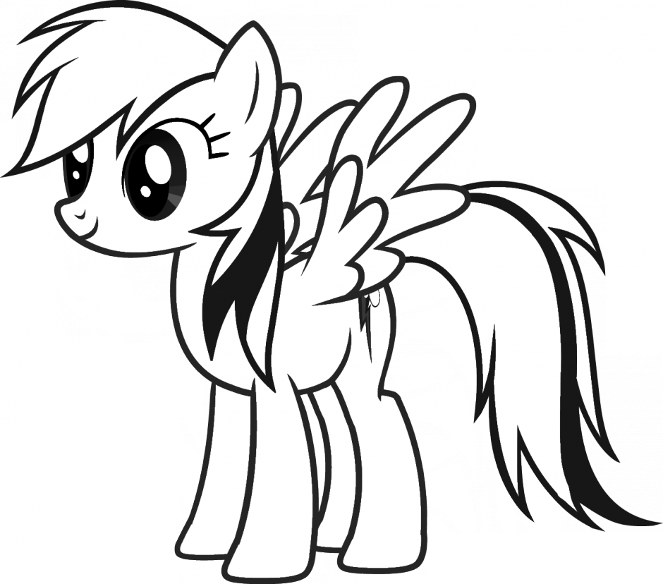 Pony Line Cliparts My Little Pony Coloriage Rainbow Dash Png Download Full Size Clipart 272208 Pinclipart