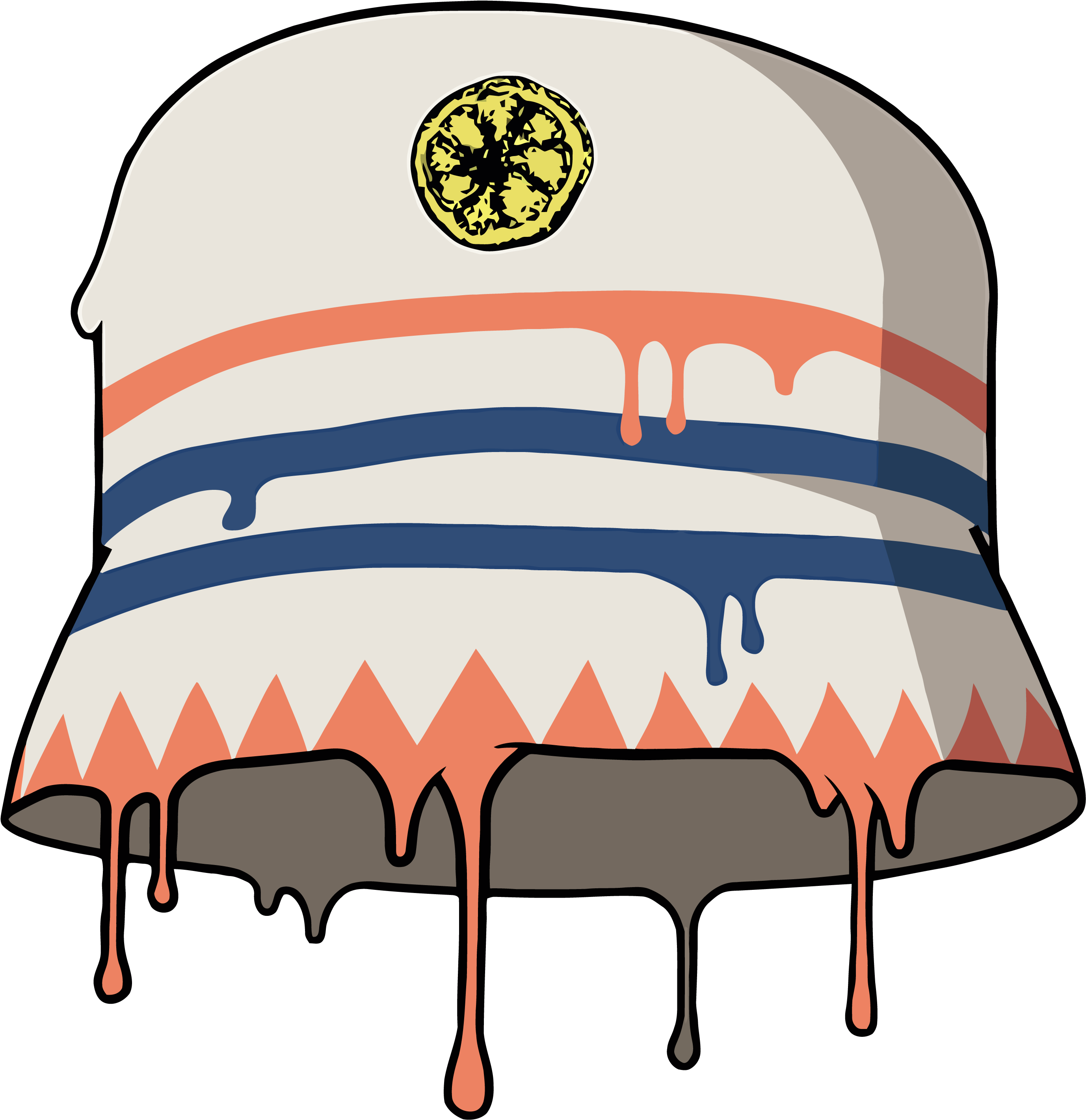 The Stone Roses Reni Dripping Paint Bucket Hat Design Clipart Full Size Clipart 2713687 Pinclipart