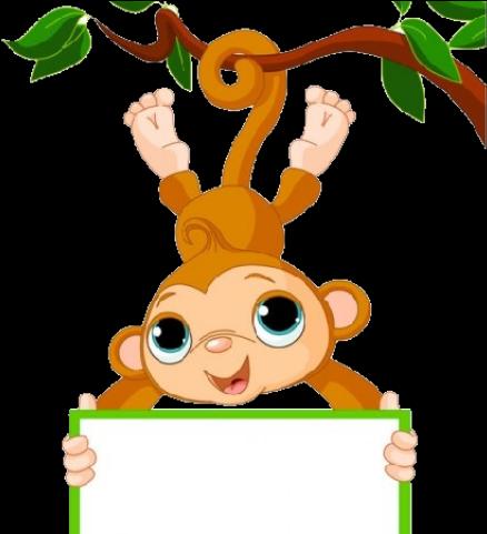 Monkey black and white hanging monkey clipart - WikiClipArt