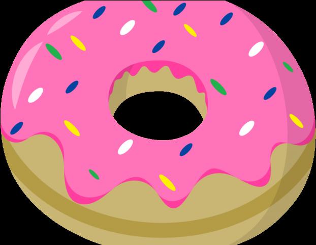 Doughnut Clipart Glazed Donut - Png Download - Full Size ... (622 x 481 Pixel)