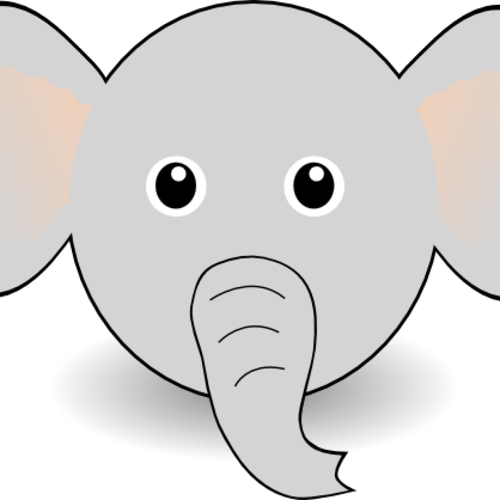 graphic about Printable Elephant Template referred to as Elephant Deal with Clipart Free of charge Printable Elephant Template - Png