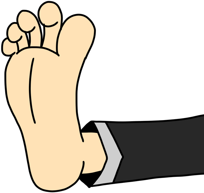 Bare Clipart Foot Up Png Download Full Size Clipart 2859919 Pinclipart
