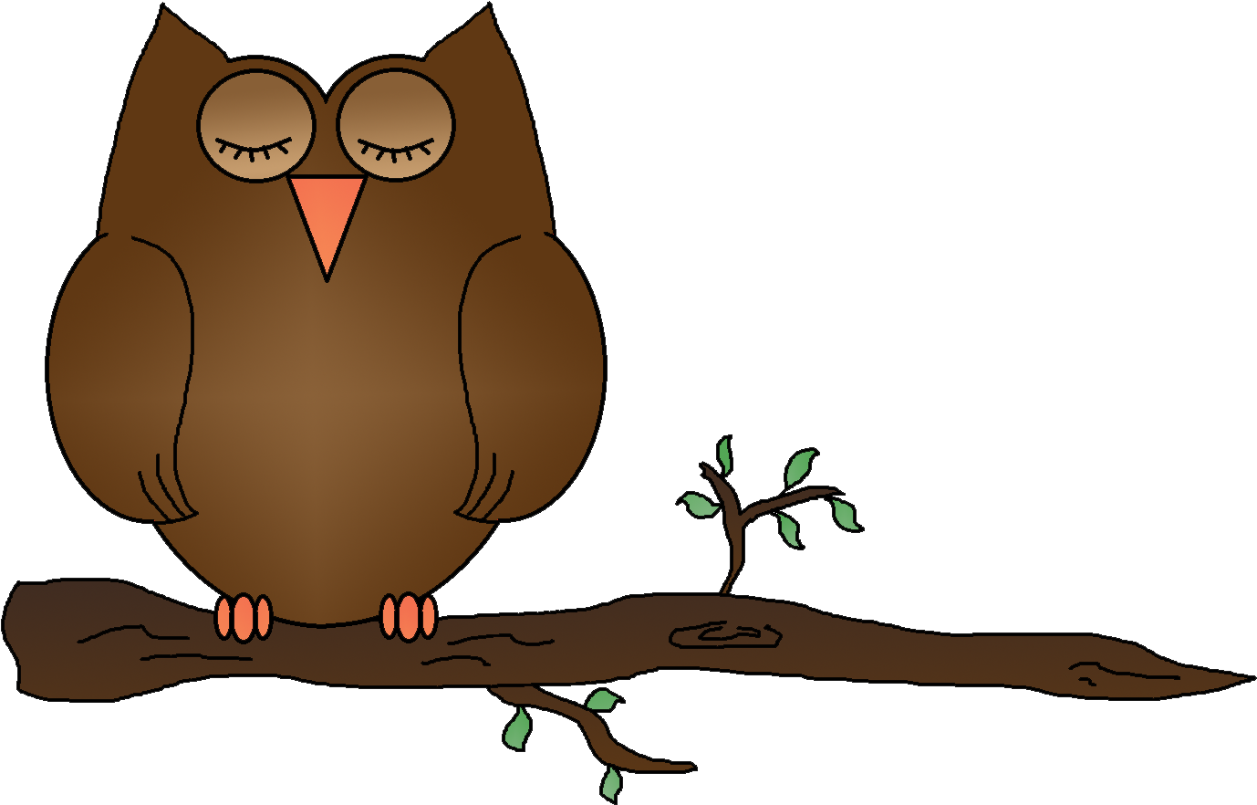 спящая сова картинки мультяшные ответить