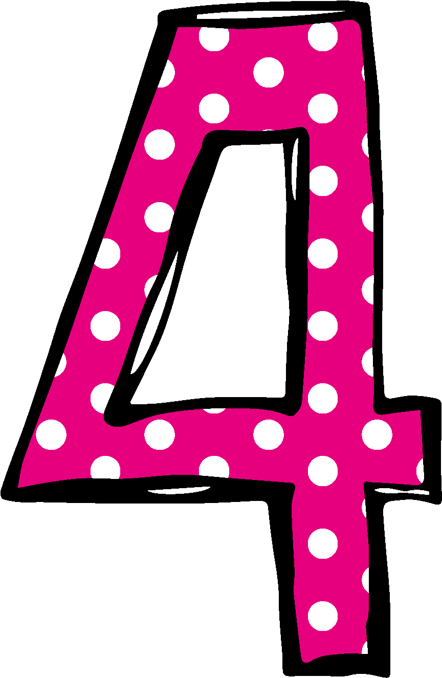 Polka - Number 4 Clip Art - Png Download
