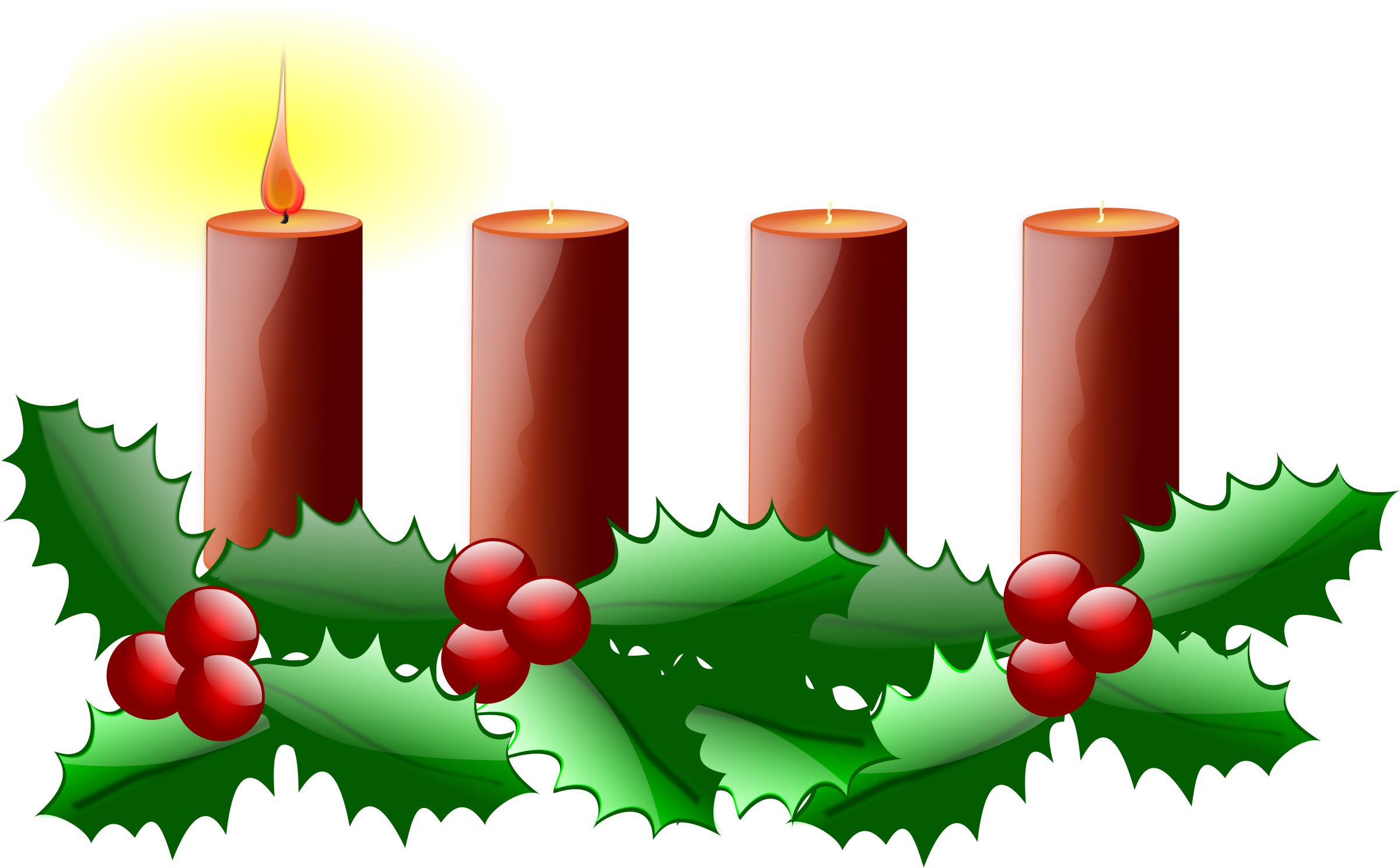 Advent Wreath Clipart Free 101 Clip Art - Advent Candles Clipart - Png Download (2400x1488), Png Download