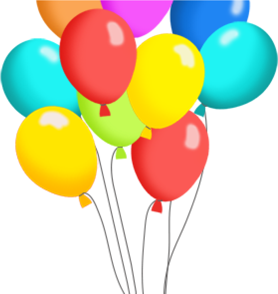 Birthday Balloons Clipart Free Balloon Clip Art Panda Pack Of Balloons Clipart Png Download Full Size Clipart 36024 Pinclipart