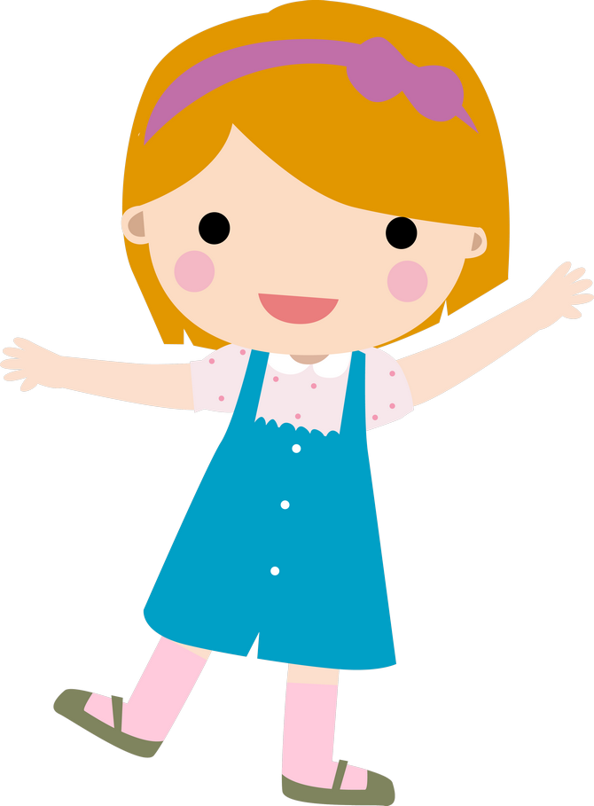 Fotki Girl Dancing Clips Preschool Crafts Little Cartoon Children Faces Png Download Full Size Clipart 38230 Pinclipart