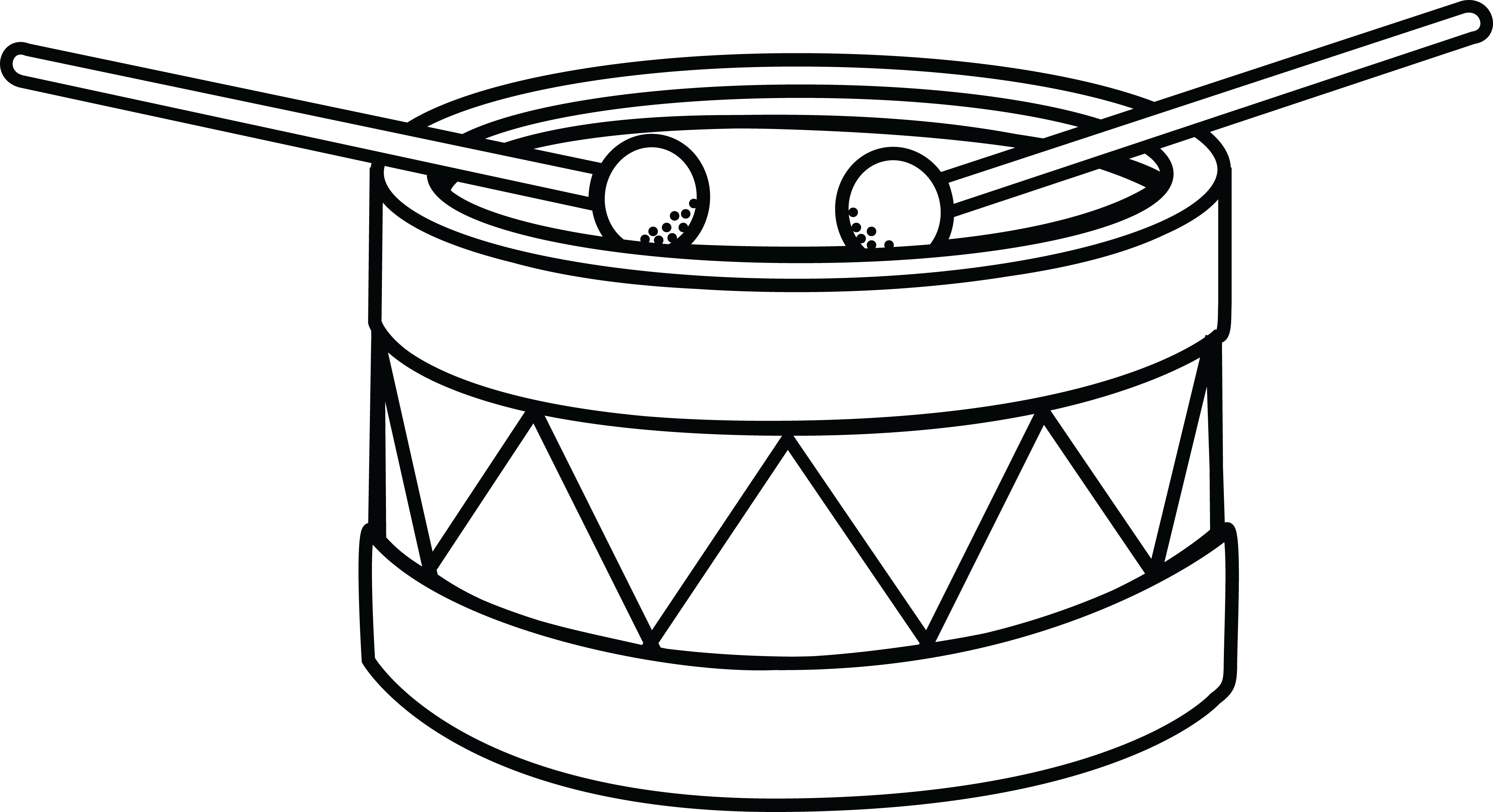 Free Clipart Of A Drum Clip Art Black And White Drum Png Download Full Size Clipart 303241 Pinclipart