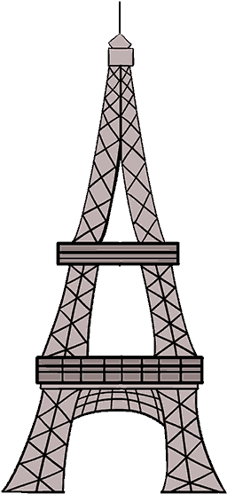How To Draw Eiffel Tower Eiffel Tower Drawing Clipart Full Size Clipart 307158 Pinclipart