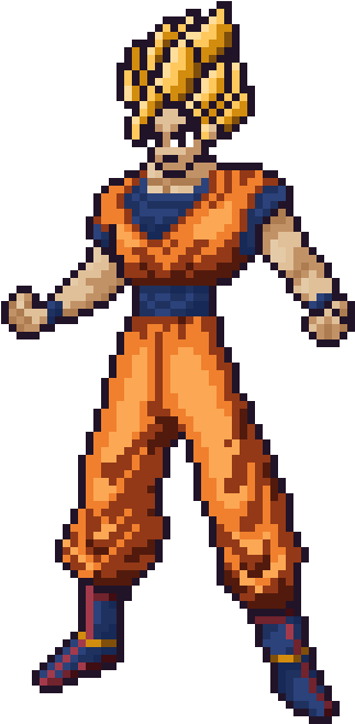 Fanartoc Super Saiyan Goku Pixel Art Clipart Full Size