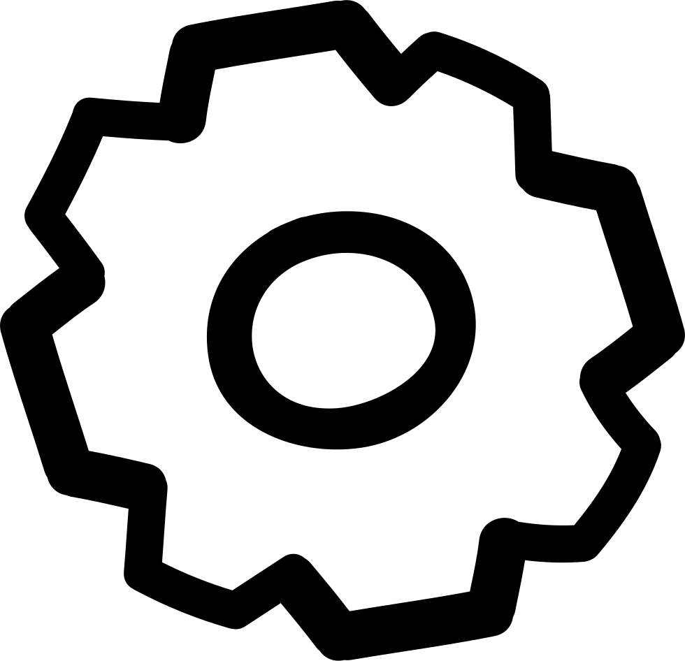 Cogwheel Hand Drawn Outline Comments - Circle Clipart (980x946), Png Download